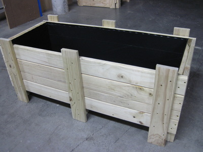 Enclosed Timber Crates With Lining